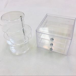 Transparent make-up organizers